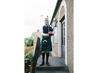 Bagpiper/Piper for Weddings and all occasions
