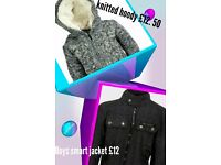 Fully lined knitted hoody and jacket