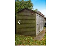 wooden garden shed 8'x6'