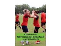 BEGINNERS ACADEMY FOR LADIES WOMENS FOOTBALL SOCCER/SOCIAL/KEEP FIT/FITNESS/FUN/FUTSAL/FEMALE/PLAYER