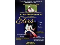 Brenda Harding memorial night featuring James Burrell as Elvis Presley - Proceeds to Dementia UK