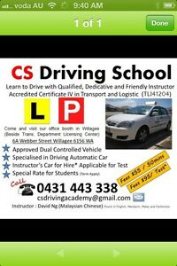 CS Driving School Cockburn Area Success Cockburn Area Preview