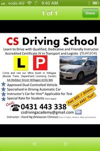 Driving Instructor in Cockburn Success Cockburn Area Preview