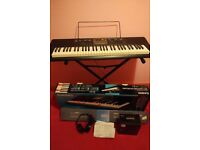 Casio LK-170 keyboard with stand and box like new