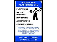 EXPERIENCED PLASTERER COMPETITIVE PRICES GUARANTEED! - (McGEACHIN PLASTERERS Ltd.)