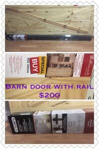 Barn door withtrack