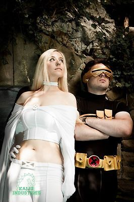 Emma Frost and Cyclops cosplay Image via HollySocks Photography by Kaiju Industries