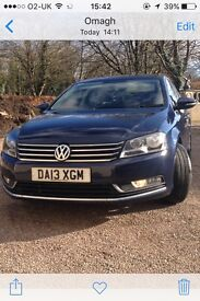 2013 Volkswagen Passat.inky blue,177bhp,sports edition, new rims and tyres.