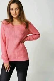 Ex branded textured sweater