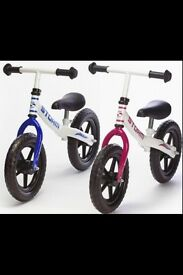 2 storm balance bikes (£15.00 each)