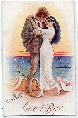 Bon Voyage Signs (Goodbye Romantic Couple Bon Voyage artist signed Cynicus)