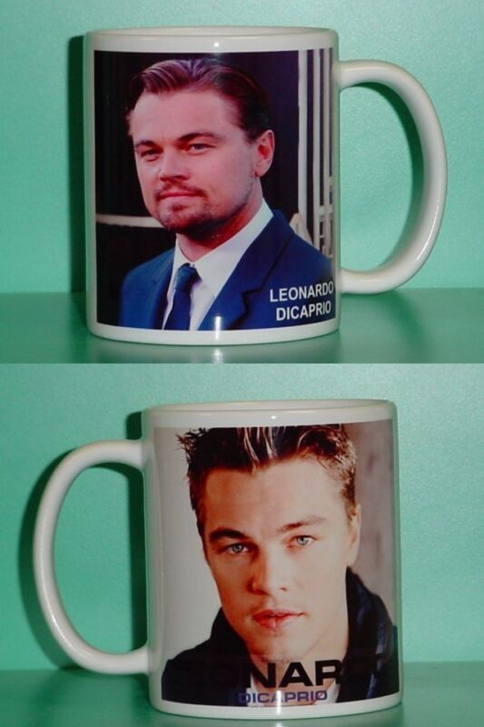 LEONARDO DICAPRIO - Leo - with 2 Photos - Designer Collectible GIFT Mug
