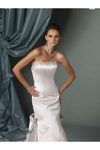 New with tags James Clifford mermaid/satin wedding gown/dress