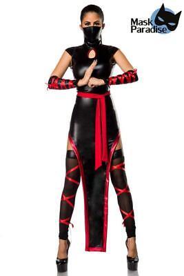Kostüm Fasching Ninja Kriegerin Warrior Schatten Kämpfer  (Schatten Ninja Kostüm)