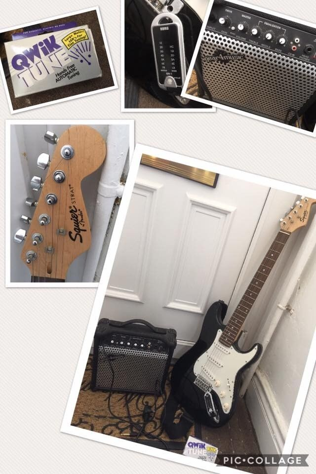Perfect Working Order Very Good Condition Electric Guitar With Small Amp