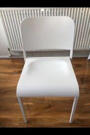 4 brilliant white chairs