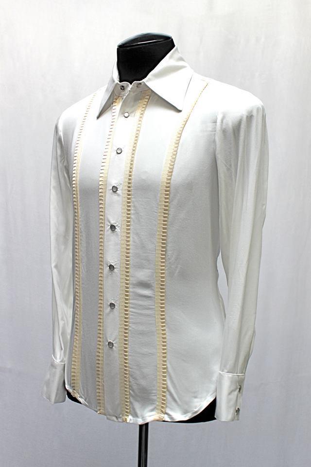 SHRINE GOTHIC ARISTOCRAT WEDDING ROCKER FORMAL CLASSIC TUXEDO WHITE DRESS SHIRT Casual Button-Down Shirts