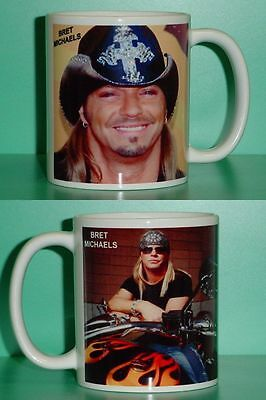 Bret Michaels   Poison   With 2 Photos   Designer Collectible Gift Mug 02