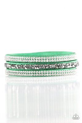 Paparazzi Mega Glam Green Urban Bracelet Wrap Women's Fashion Jewelry