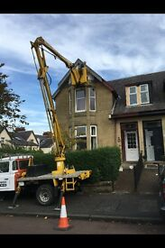 CHERRY PICKER HIRE PROPERTY MAINTENANCE/PAINTING/GUTTERS/SOFFITS WEST END ALL AROUND GLASGOW