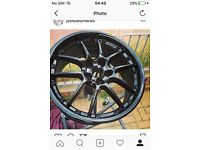 "18"" black alloy wheels PERFECT CONDITION"