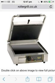 Roller grill ideal for food business for making toasted sandwiches