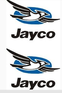 2- small Jayco decals trailer rv popup bird made in the USA Decal Vinyl  11.25