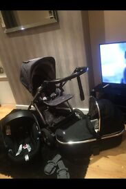 Mamas and papas sola2 MTX travel system. Pram, carrycot, car seat and adapters