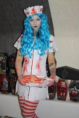 Smiffys Zombie-Krankenschwesterkostüm S überarbeitet Cosplay Nurse Nekro LDD - Krankenschwester Kostüm Schwarz