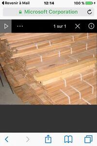 Plancher de bois franc cerisier neuf non vernis 1000 pieds