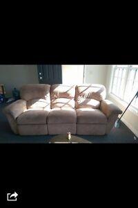 Beige Recliner Sofa