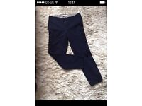 2 x Banana Republic trousers in blue and black, size 8