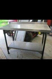 Stainless steal prep table