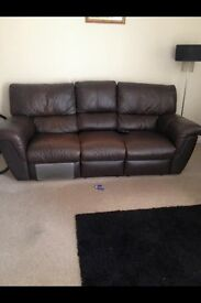I have a lovely 3 seater leather chocolate brown reclining sofa good con