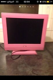 Flat screen TV (pink)