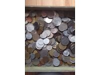 Bulk lot of over 300 old foriegn coins