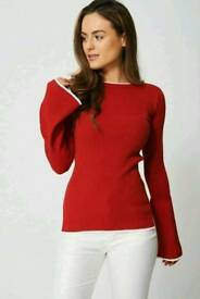 Ex branded bell sleeve jersey top