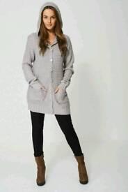 Fine Knit Hooded cardigan