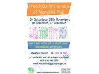 Free Kids Art Group at Maryhill Hub, Glasgow