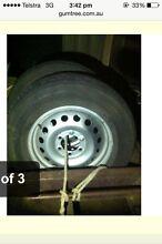 Toyota Hilux steelies with grandtreks 225/75/r17 Mount Compass Alexandrina Area Preview