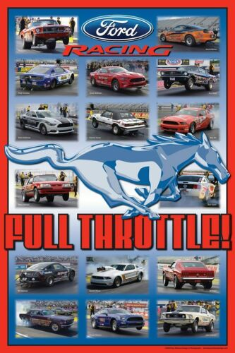 """Ford Mustang Stock/Super Stock NHRA 20"""" x 30"""" Drag Race Poster."""