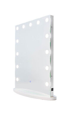 Hollywood Impulse LED Vanity Mirror w/ Touch Dimmer & Outlet