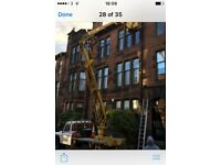 HILLHEAD CHERRY PICKER HIRE SASH AND CASE WINDOWS PAINTED