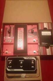 DIGITECH whammy DT guitar pedal + switch foot control pedal