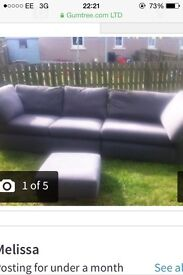 3 seater sofa with foot stool