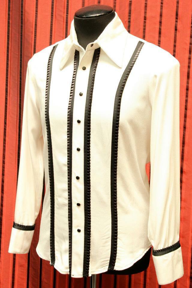 SHRINE GOTHIC ARISTOCRAT WEDDING ROCKER FORMAL CLASSIC TUXEDO WHT B DRESS SHIRT Casual Button-Down Shirts