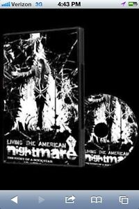 RARE Living the American Nightmare DVD Misfits Punk Type o Negative metal