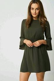 Ex branded bell sleeve dress