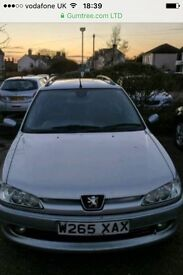 Peugeot 306 1.9 diesal estate brilliant runner drives very well no MOT but in mint condition