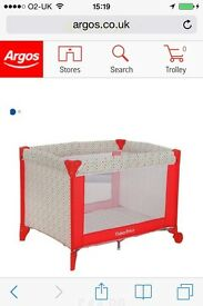 Fisher price travel cot
